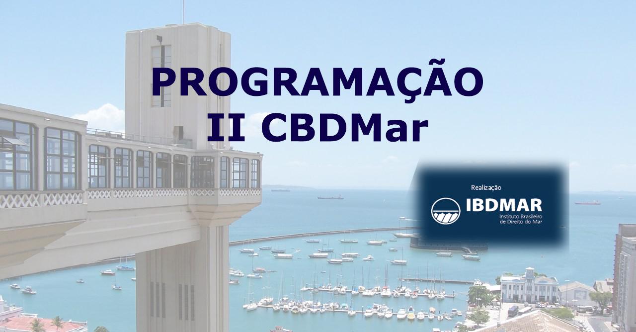 Programação CBDmar