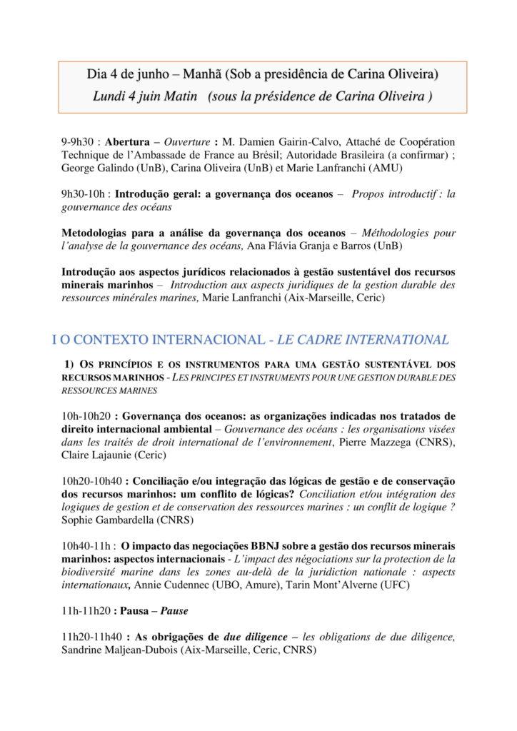 Programa - A gestão sustentável dos recursos minerais marinhos - 4 e 5 de junho - Faculdade de Direito - versão final-2